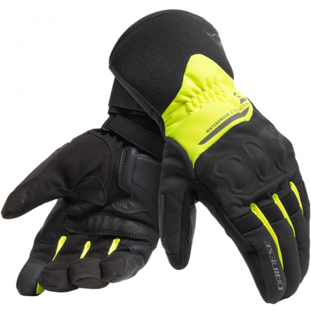 GUANTO X-TOURER D-DRY BLACK/FLUO YELLOW