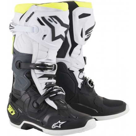 STIVALE CROSS TECH 10 BLK/WHT/YLW FL