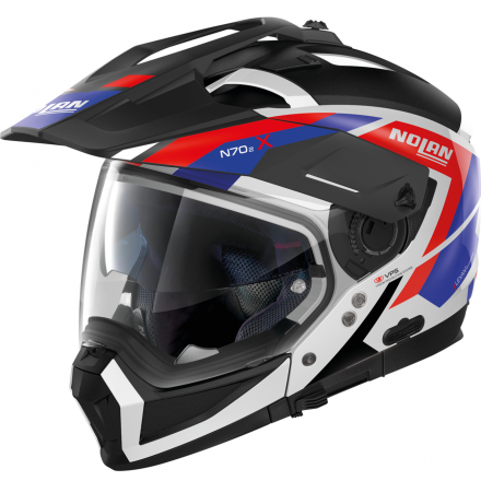 CASCO N70-2 X GRANDES ALPES METAL WHITE 026