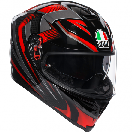 CASCO K-5 S MULTI HURRICANE 2.0 BLK/RED PLK