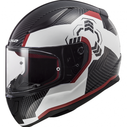 CASCO FF353 RAPID GHOST WHITE/BLACK/RED