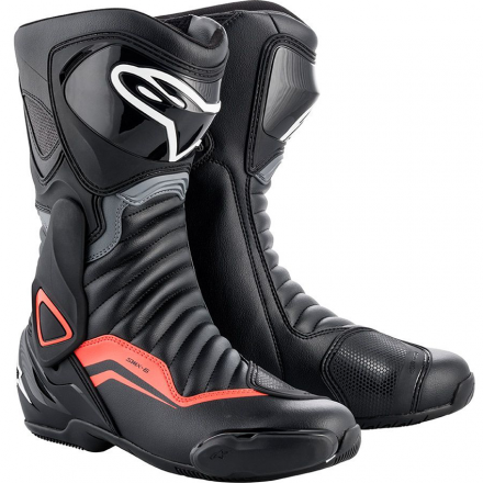 STIVALE SMX-6 V2 BLACK/GRAY/RED FLUO