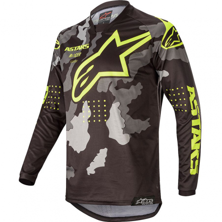 MAGLIA YOUTH RACER TACTICAL BLK/GR CAMO/YLW FL