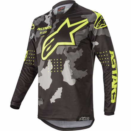 MAGLIA RACER TACTICAL BLK/GRY CM/YLW FL