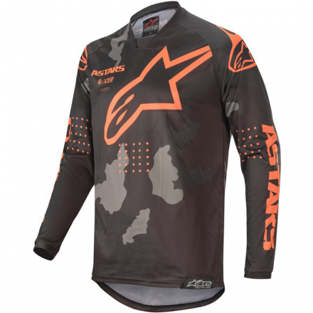 MAGLIA RACER TACTICAL BLK/GRY CM/ORG FL