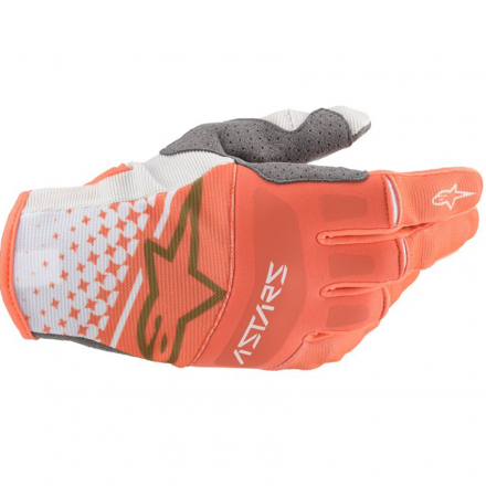 GUANTO TECHSTAR WHITE/ORANGE FLUO/GOLD