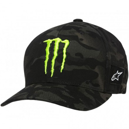 CAPPELLO MONSTER MULTICAMO BLACK