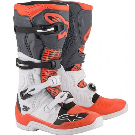 STIVALE CROSS TECH 5 WHITE/GREY/RED FLUO
