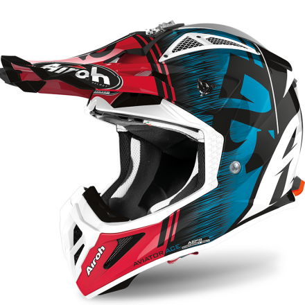 CASCO AVIATOR ACE KYBON BLUE/RED GLOSS