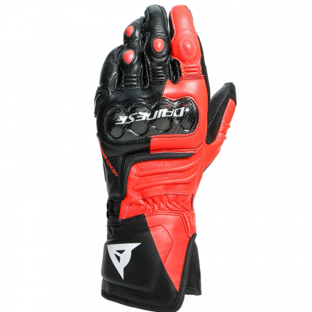 GUANTO CARBON 3 LONG BLACK/FLUO RED/WHITE