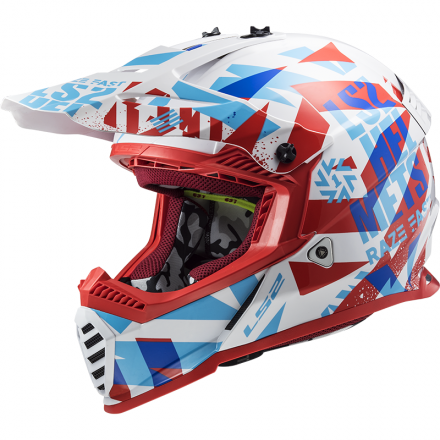 CASCO MX437 FAST EVO MINI FUNKY RED/WHITE