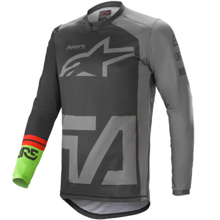 MAGLIA RACER COMPASS BLK/ DRK GRY/GRN FL