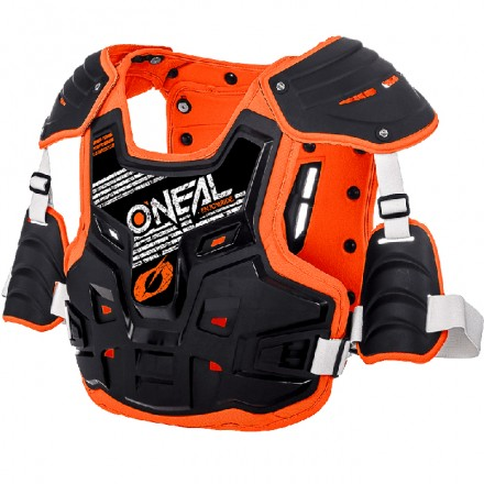 PETTORINA PRX STONE SHIELD BLACK/ORANGE