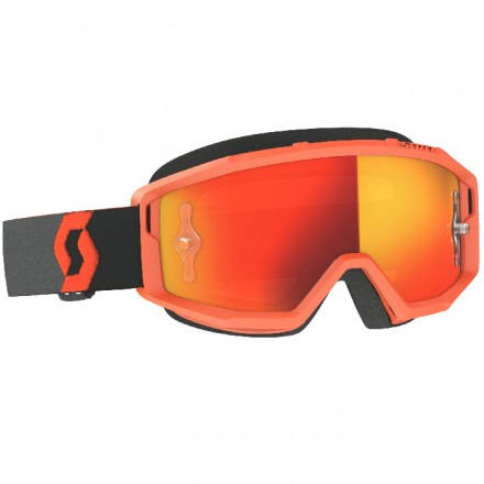 MASCHERINA PRIMAL ORANGE/BLACK ORANGE CHROME
