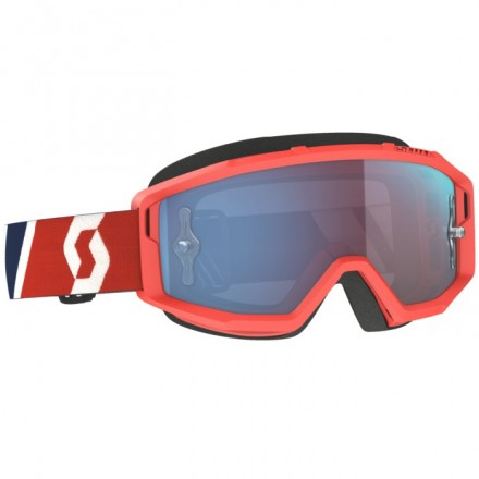 MASCHERINA PRIMAL RED/BLUE BLUE CHROME