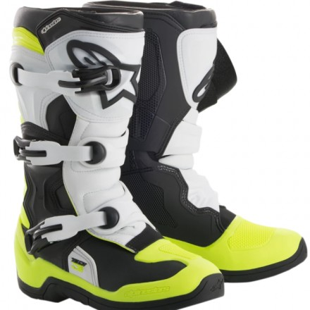 STIVALE TECH 3 YOUTH BLACK WHITE YELLOW FLUO