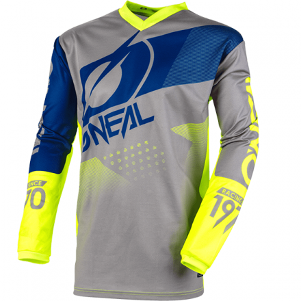 MAGLIA ELEMENT FACTOR YOUTH GRAY/BLUE/NEON