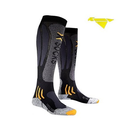 CALZE X-SOCKS MOTOTOURING LONG BLACK ANTRACITE