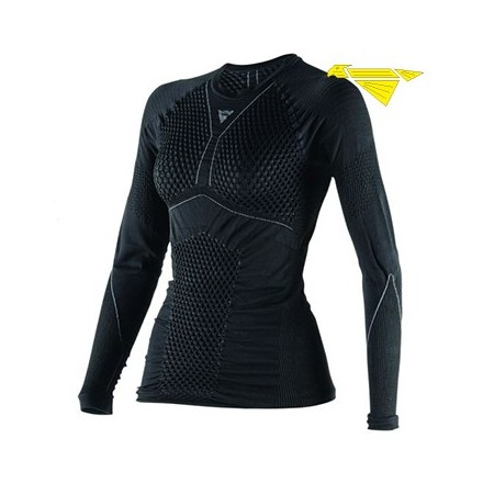 MAGLIA D-CORE THERMO TEE LS LADY BLK/ANTHR