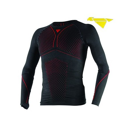 MAGLIA D-CORE THERMO TEE LS BLK/RED
