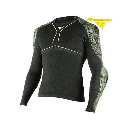 MAGLIA D-CORE ARMOR TEE LS BLK/FLUO-YLW