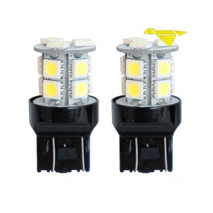 KIT 2 LAMPADINE T20 WHT LED 7440 CON 13 LED