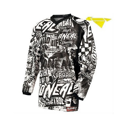 MAGLIA ELEMENT KIDS WILD BLACK/WHITE
