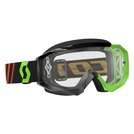 Mascherina Hustle Mx Blk/fluo Green Clear