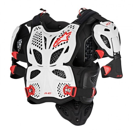 A-10 Full Chest Protezione Wht/blk/red