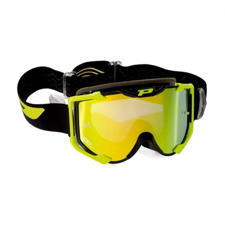 Maschera Cross Multilayer Giallo Fluo