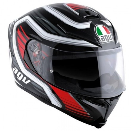 Casco K-5 S Multi Plk Firerace Blk/red