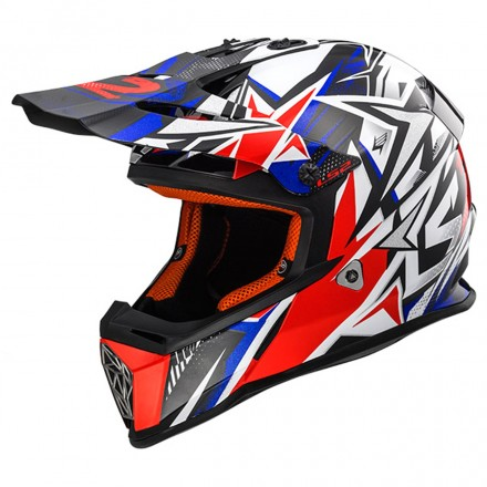 Casco Mx437 Fast Strong Wht/red/blue