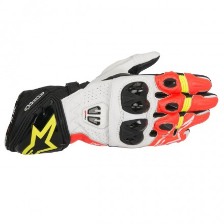 Guanto Gp Pro R2 Blk/wht/red/ylw Fluo