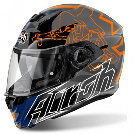 Casco Storm Bionikle Orange Gloss
