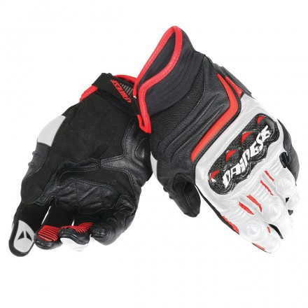 Guanto Carbon D1 Short Blk/wht/lava-red