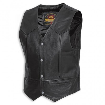 Gilet Dillo Held Pelle Nero