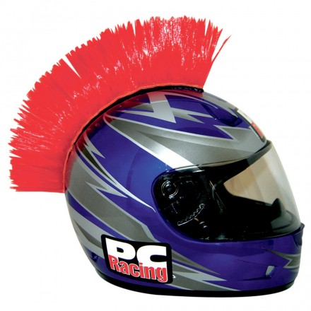 CRESTA CASCO MOHAWK RED