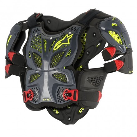 A-10 FULL CHEST PROTEZIONE ANTH/BLK/RED