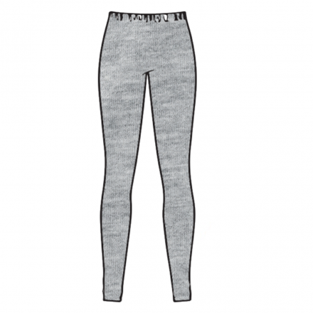 PANTALONE LEGGINGS MERINOS CARBON WOOL GREY