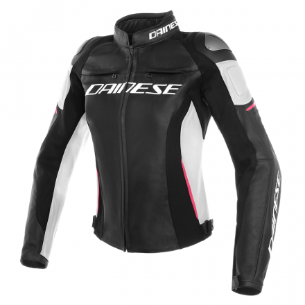 GIUBBOTTO RACING 3 LADY BLK/WHT/FUCHS
