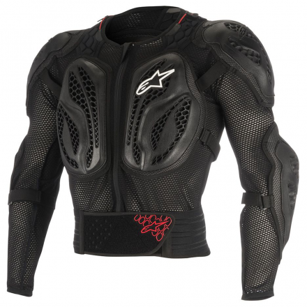 PETTORINA BIONIC ACTION YTH BLK/RED