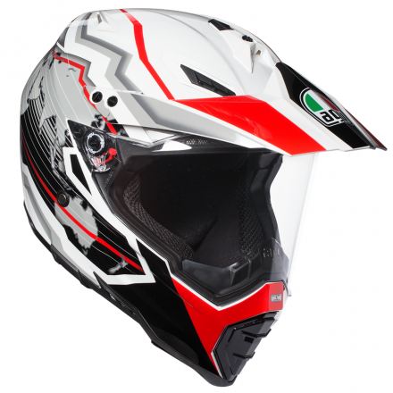 CASCO AX-8 DUAL EVO EARTH WHT/BLK/RED