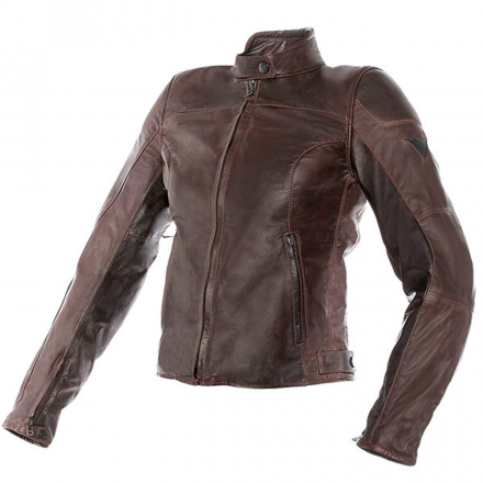 GIUBBOTTO MIKE LADY LEATHER DARK BROWN