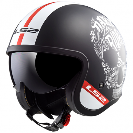 CASCO OF599 SPITFIRE INKY MATT BLACK/WHITE