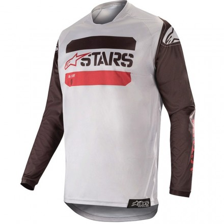 MAGLIA RACER TACTICAL BLK/GRY/BURGUND
