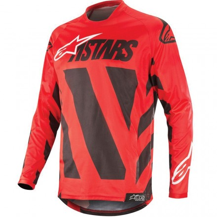 MAGLIA RACER BRAAP BLACK/RED/WHITE