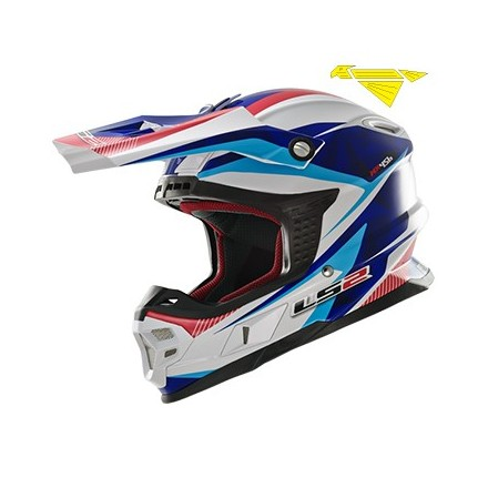 CASCO MX456 LIGHT QUARTZ WHITE-BLU-RED