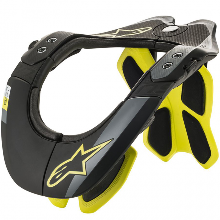 COLLARE BNS TECH-2 BLACK/YELLOW FLUO